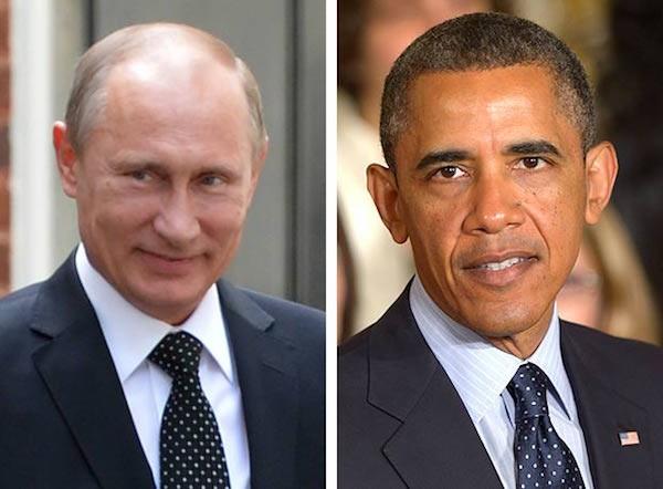 Tổng thống Putin và Tổng thống Obama (phải)