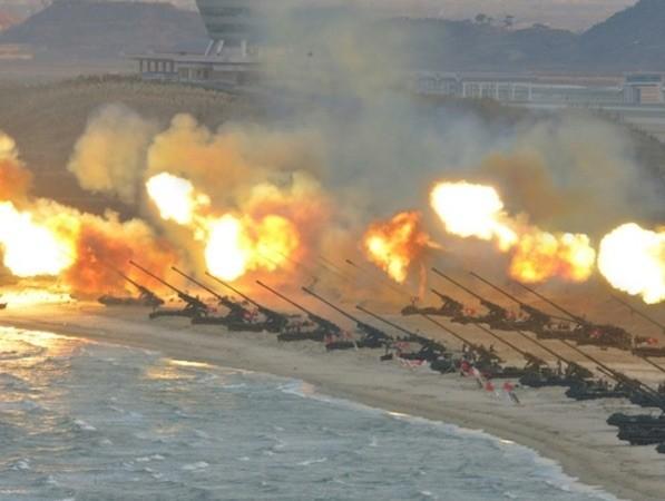Một cuộc tập trận pháo binh của Triều Tiên (Ảnh minh hoạ)