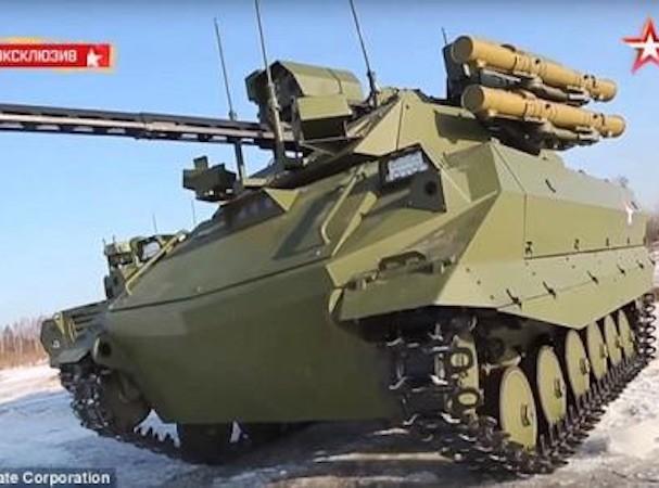 Uran-9 được trang bị hàng loạt vũ khí hạng nặng