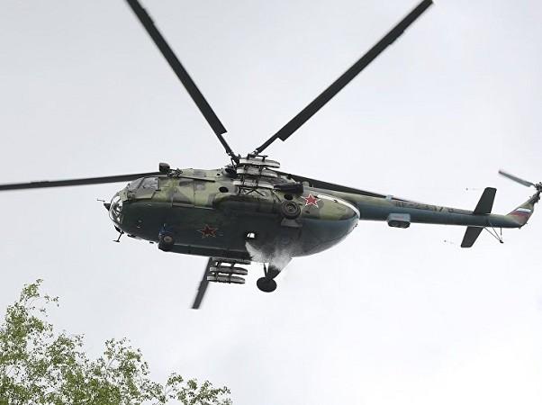 Chiếc Mi-8 bị bắn rơi khi đang trở về căn cứ