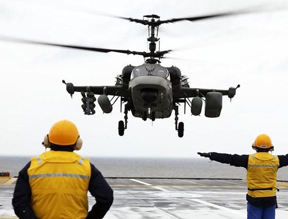 Máy bay trực thăng Ka-52K sẽ được triển khai lên tàu sân bay Đô đốc Kuznetsov