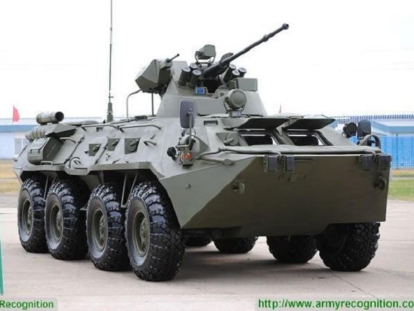 Xe BTR-82AM có hỏa lực vô cùng mạnh mẽ