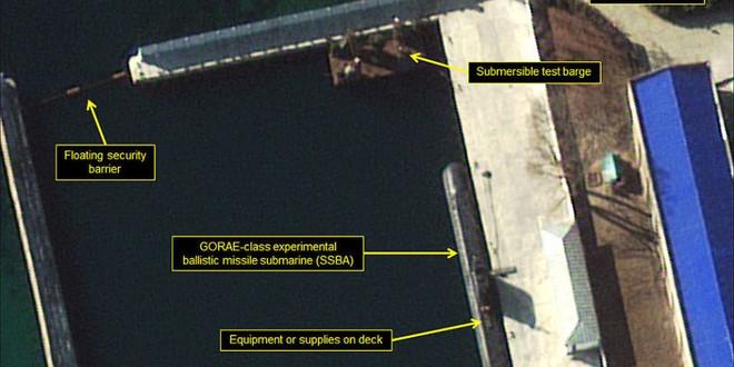 Tàu ngầm tên lửa đạn đạo thế hệ mới của Triều Tiên sắp chạy thử?