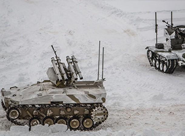 Robot của Nga được trang bị nhiều vũ khí hạng nặng để hỗ trợ cho bộ binh