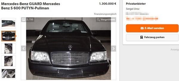 Chiếc xe được quảng cáo là từng được Tổng thống Putin sử dụng
