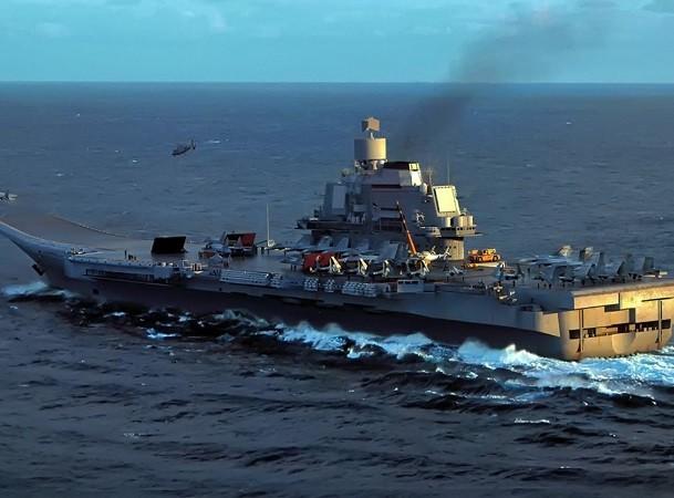 Tàu Đô đốc Kuznetsov vừa trở về từ Địa Trung Hải