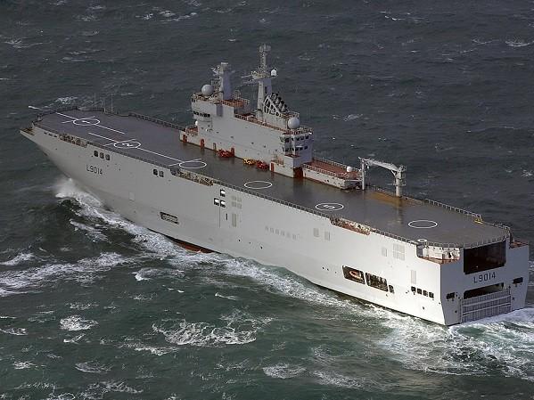 Tàu Mistral sẽ tập trận cùng hải quân Nhật Bản, Anh và Pháp