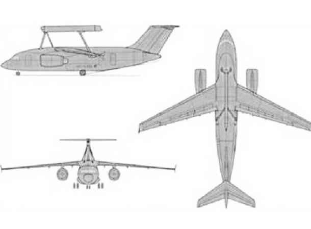 Hình ảnh thiết kế máy bay AWACS mới của Ukraine
