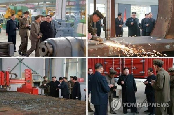 Hình ảnh ông Kim Jong-un thị sát nhà máy sản xuất ô-tô