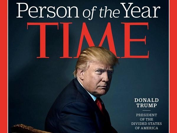 Hình Tổng thống Trump trên tạp chí Time năm 2016
