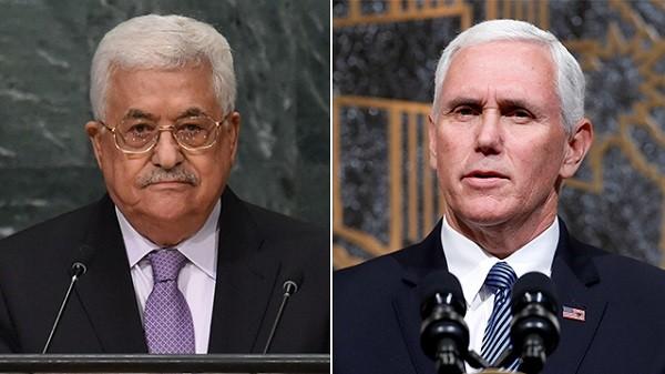 Tổng thống Palestine từ chối gặp Phó Tổng thống Mỹ (phải)