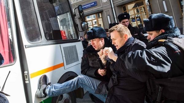 Lãnh đạo đối lập Nga đã nhiều lần bị bắt vì tổ chức biểu tình trái phép