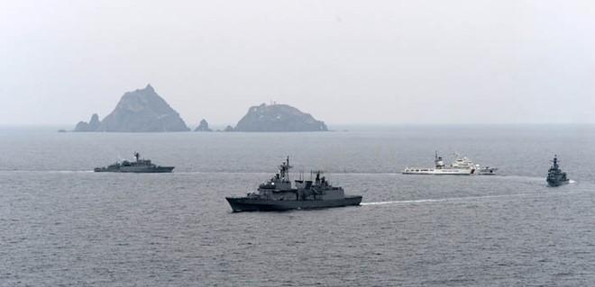 Nhật Bản phản đối mạnh mẽ hoạt động tập trận của Hàn Quốc ở đảo Dokdo/Takeshima