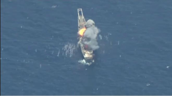 Nhật Bản, Australia và Mỹ cùng nhau đánh chìm tàu USS Racine