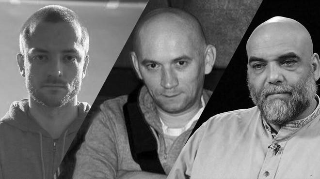 3 người thiệt mạng được xác định là phóng viên Orhan Dzhemal (phải), nhà quay phim Kirill Radchenko và đạo diễn Aleksandr Rastorguyev (giữa).
