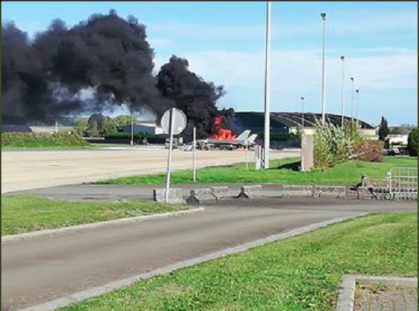 Chiếc F-16 của Bỉ bị cháy khi đang trong quá trình bảo dưỡng