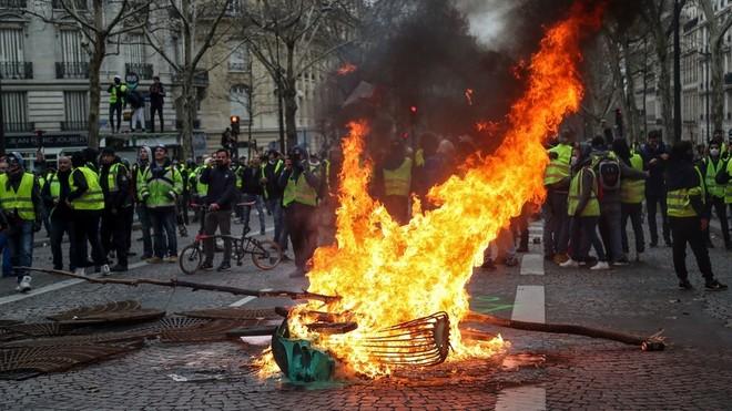 Biểu tình tại Pháp thường xuyên diễn ra mỗi dịp cuối tuần