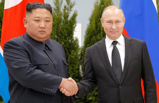 Tổng thống Putin đã gặp ông Kim Jong-un vào hôm 25-4-2019
