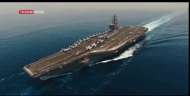 Hình ảnh tàu sân bay Mỹ được UAV Iran ghi lại