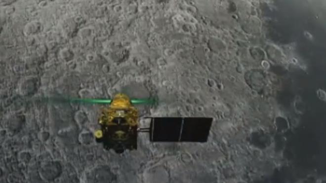 Hình ảnh tàu Vikram khi đang cố gắng đổ bộ lên Mặt trăng