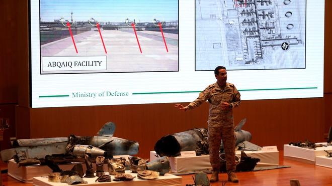 Saudi Arabia công bố các mảnh vỡ của UAV và tên lửa hành trình sử dụng ở vụ tấn công