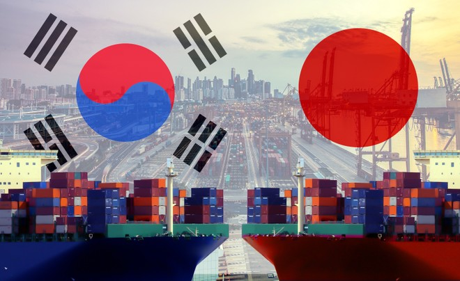 Nhật Bản và Hàn Quốc đang xảy ra nhiều tranh chấp về thương mại