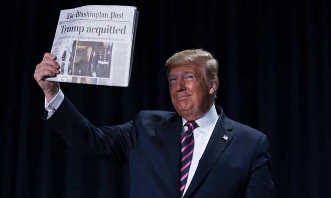 Tổng thống Donald Trump vui mừng vì trắng án trong phiên bỏ phiếu tại thượng viện