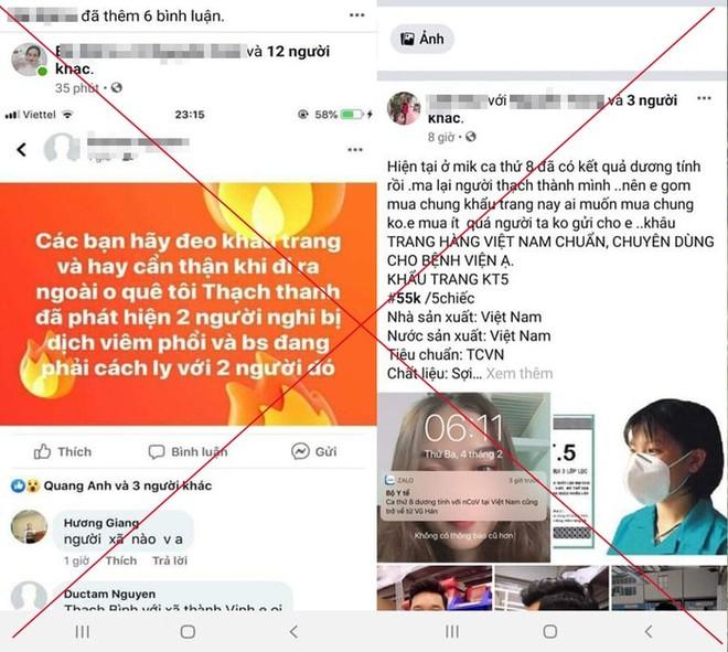 Công an huyện Thạch Thành, tỉnh Thanh Hóa đã ra quyết định xử phạt hành chính đối với 2 cá nhân đăng tin sai sự thật về dịch bệnh viêm đường hô hấp do virus Corona...