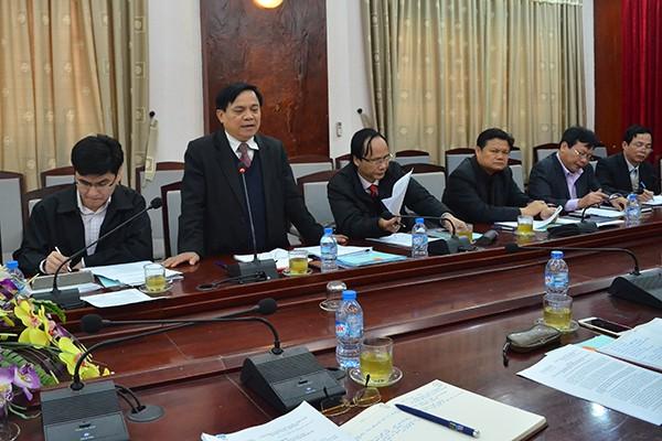 Phó Chủ tịch HĐND TP Lê Văn Hoạt phát biểu tại buổi làm việc
