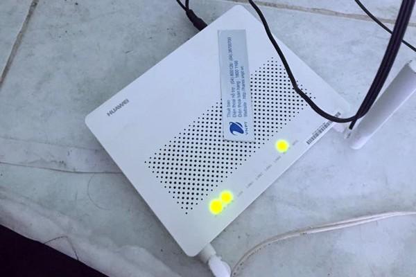 Modem của hãng Huawei mà VNPT cung cấp cho khách hàng