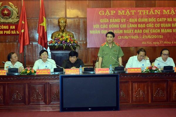 Chân tình buổi gặp mặt thân mật giữa CATP Hà Nội với lãnh đạo các cơ quan báo chí ảnh 2