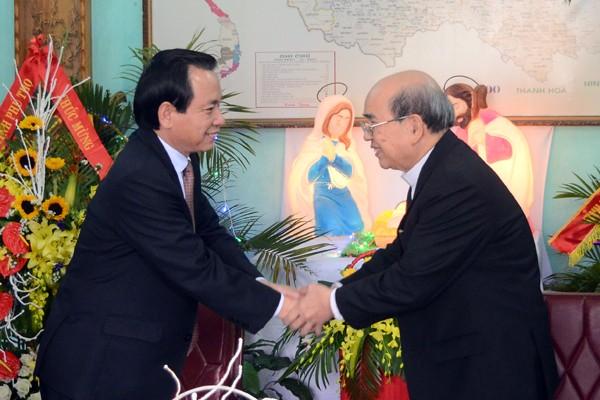 Lãnh đạo Thành phố Hà Nội chúc mừng Giáng sinh Tòa Giám mục Hưng Hóa ảnh 1