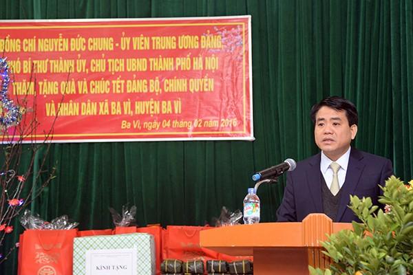 Chủ tịch UBND TP.Hà Nội Nguyễn Đức Chung khẳng định công tác xóa đói, giảm nghèo, chăm lo đời sống người dân là một trong những nhiệm vụ trọng tâm của TP