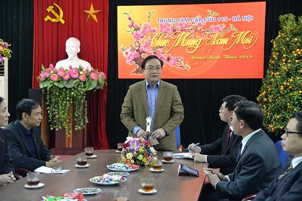 Bí thư Thành ủy Hoàng Trung Hải thăm hỏi, động viên các đơn vị ứng trực phục vụ nhân dân dịp Tết ảnh 5