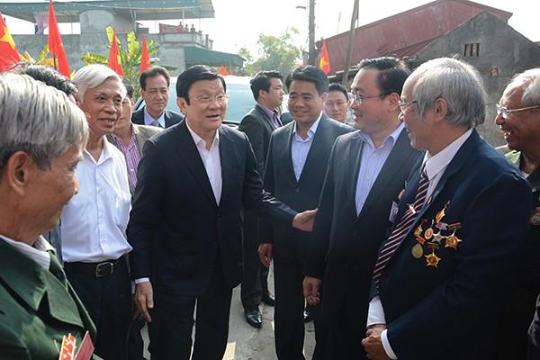 Chủ tịch nước Trương Tấn Sang đánh giá cao những đóng góp của các chiến sỹ cách mạng bị địch bắt và tù đầy