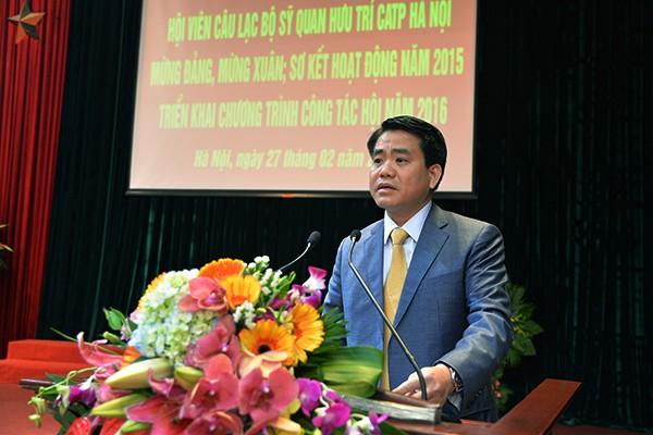 Chủ tịch UBND TP Nguyễn Đức Chung trân trọng những đóng góp bền bỉ của các hội viên CLB Sỹ quan hưu trí CATP