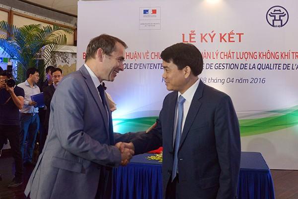 Biên bản thoả thuận mở ra nhiều chương trình hợp tác giữa Pháp và TP Hà Nội trong lĩnh vực bảo vệ môi trường