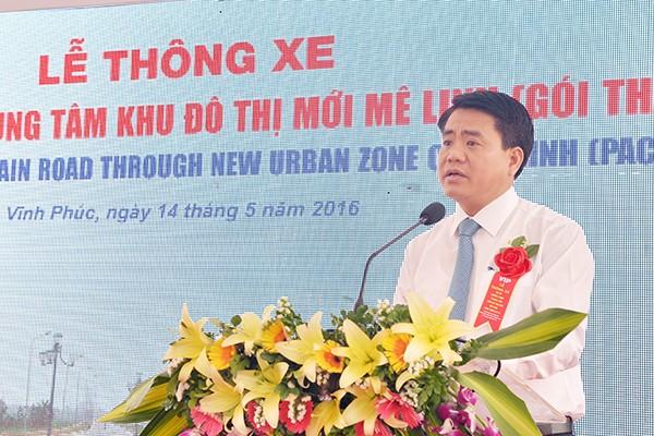 Chủ tịch UBND TP Hà Nội Nguyễn Đức Chung phát động lễ thông xe