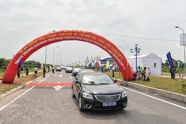 Tuyến đường đi vào hoạt động giúp kết nối giữa Hà Nội và Vĩnh Phúc thuận lợi hơn rất nhiều.