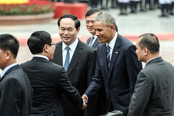 Hình ảnh ấn tượng tại lễ đón chính thức Tổng thống Mỹ ảnh 8