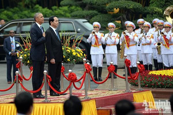 Hình ảnh ấn tượng tại lễ đón chính thức Tổng thống Mỹ ảnh 5