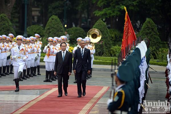 Hình ảnh ấn tượng tại lễ đón chính thức Tổng thống Mỹ ảnh 6