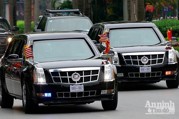 Cận cảnh dàn xe chuyên dụng, chống đạn chở Tổng thống Mỹ ảnh 5