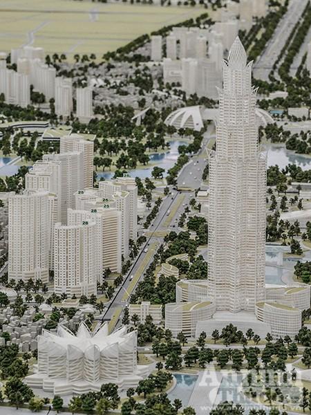 Cận cảnh Tháp tài chính và khu Thành phố Asean