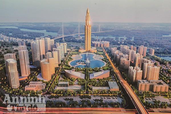 Tháp tài chính được thiết kế từ hình tượng hoa sen, đặc trưng văn hoá Việt Nam