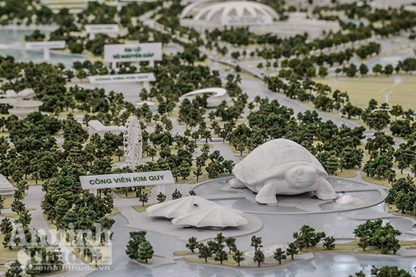 Công viên giải trí Kim Quy ở khu vực Đầm Vân Trì, sông Thiếp sẽ được xây dựng đạt tiêu chuẩn thế giới để phục vụ nhân dân, thu hút du khách...