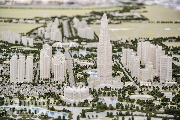 Trọng tâm của khu vực là Tháp tài chính thương mại Phương Trạch, với chiều cao dự kiến tối đa khoảng 108 tầng