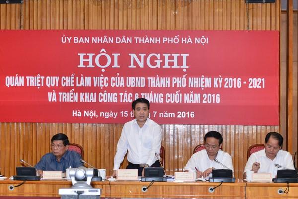 Chủ tịch UBND TP Hà Nội Nguyễn Đức Chung kết luận hội nghị