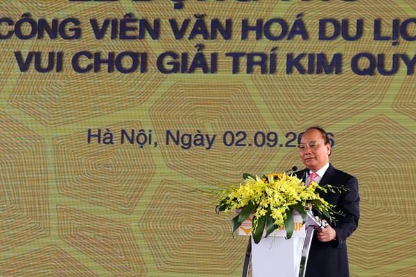 Thủ tướng Chính phủ Nguyễn Xuân Phúc phát biểu tại buổi lễ