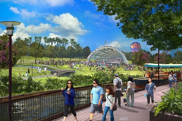 Phối cảnh khu vui chơi ngoài trời tại Công viên Kim Quy